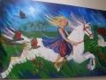 Girl on White Horse.