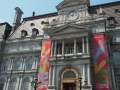 Montreal City Hall showing 375 year celebratory banners.