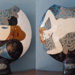 Raku Ceramic Vase from Vezio, Lake Como (ht = 40 cm)
