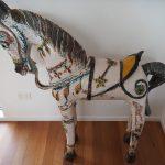 Indian Ceramic Horse - glazed terracotta - (ht = 120 cm)