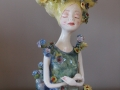 Ceramic Flower Lady