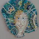 Ceramic Face by Margherita D'Amato, Vietri Sule Mare, Amalfi Coast (65 cm)