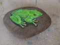 Frog Painted on Rock